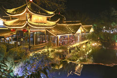 Night scene in mount emei,china Royalty Free Stock Photo