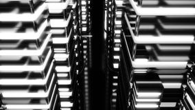 Night scene of neon city of the future. Loopable. Black and white. HD Night scene of neon city of the future. Loopable. Black and white stock video