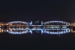 Night scene of Neva river Royalty Free Stock Image