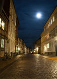 Night scene from Odense. A nightscene from the old Odense on a wet night Royalty Free Stock Photography