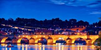Free Night Scene Of Charles Bridge Stock Images - 136891054