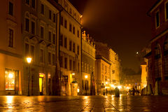 Night scene in old city Stock Photography