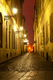 Night scene in old town Stock Photos