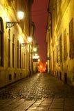 Night scene in old town Stock Photos