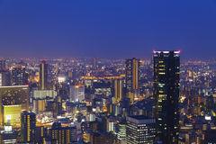 Night scene in Osaka, Japan. It is a night scene is Osaka Royalty Free Stock Photos