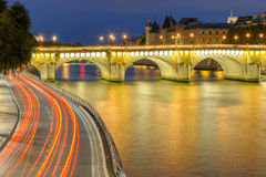 Night scene in paris ccity Royalty Free Stock Photos