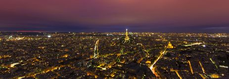 Night scene of Paris city with Eiffel Tower. PARIS, FRANCE - SEPTEMBER 21 2011: night scene of Paris city with Eiffel Tower Royalty Free Stock Image