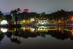 Night scene in park of guangzhou China Stock Photography