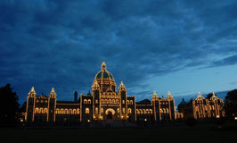 Night scene of the parliament building Stock Image
