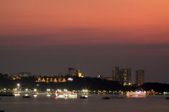 Night scene at Pattaya city Royalty Free Stock Photos