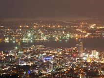 Night scene of Penang, Malaysia. Night scene of Georgetown city from Penang Hill Stock Photo