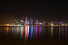 Night scene of Perth City Stock Image