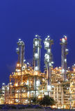 Night scene of Petrochemical factory Royalty Free Stock Photos