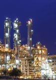 Night scene of Petrochemical factory Royalty Free Stock Images