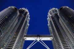 Night scene of Petronas Twin Tower Royalty Free Stock Photography