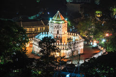Night Scene of Phra Sumen Fort Royalty Free Stock Photography