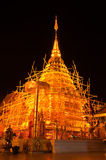 Night scene of Phra Thart Doi Suthep Stock Photos