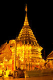 Night scene of Phra Thart Doi Suthep Royalty Free Stock Image