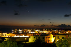Night Scene , Playa Blanca , Lanzarote Royalty Free Stock Images