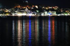 Night scene of Podgora. Croatia Stock Images