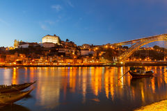 Night scene of Porto, Portugal Royalty Free Stock Photography