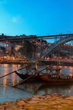 Night scene of Porto, Portugal Royalty Free Stock Images