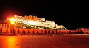 Night scene of potala palace, tibet Stock Photo