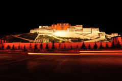 Night scene of potala palace, tibet Royalty Free Stock Images