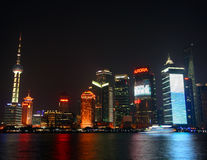 A Night Scene of Pudong Royalty Free Stock Photo
