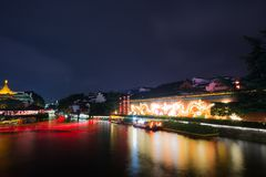 Night Scene on the Qinhuai River Stock Photo