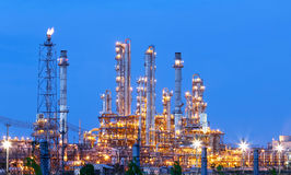 Night scene of refining plant ,Processed using HDR Stock Image