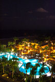 Night scene at a resort in Fort Lauderdale, Miami Royalty Free Stock Photography
