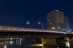 Night Scene of riverside Building Royalty Free Stock Photos