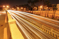 Night Scene of road Royalty Free Stock Image