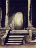 Ancient temple ruins in the woods Stock Photography