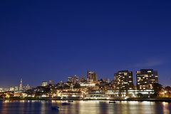 A night scene of San Francisco City Stock Images