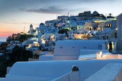 Night scene Santorini Stock Photography