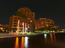 A Night Scene of the Scottsdale Waterfront Royalty Free Stock Photo