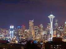 Night Scene of Seattle Stock Photos