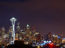 Night Scene of Seattle Royalty Free Stock Photo