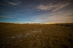 Night scene at Seljarnarnes, Reykjavik, Iceland Royalty Free Stock Photo