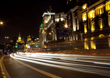 Night scene at shanghai bund Stock Photo