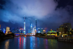 Night scene of shanghai Stock Images