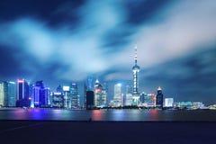 Night scene of shanghai skyline Stock Images
