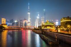 Night scene of shanghai Stock Image