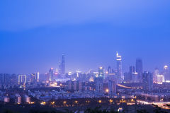 Night scene of shenzhen city Stock Photo