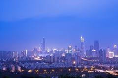 Night scene of shenzhen city Stock Photo