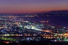 Night scene of Shonan Royalty Free Stock Photography
