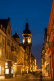 The night scene of shopping street in Heidelburg, Germany Stock Images