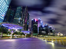 Night scene of Singapore Royalty Free Stock Photo